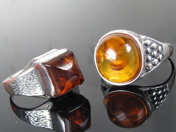 Amber heren ringen