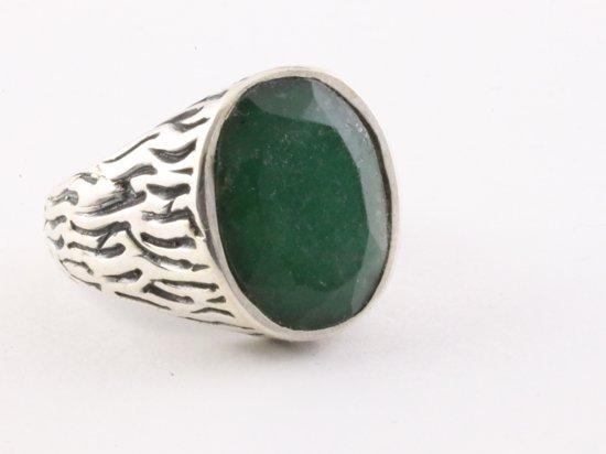 Smaragd ring man