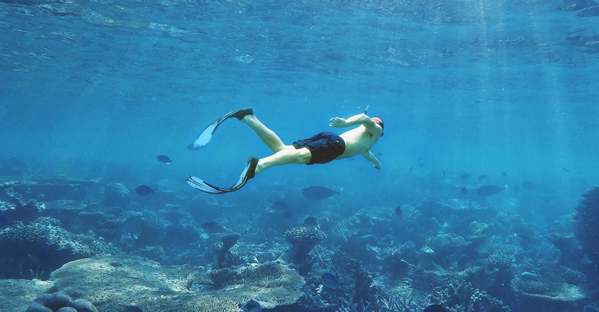 free-diving