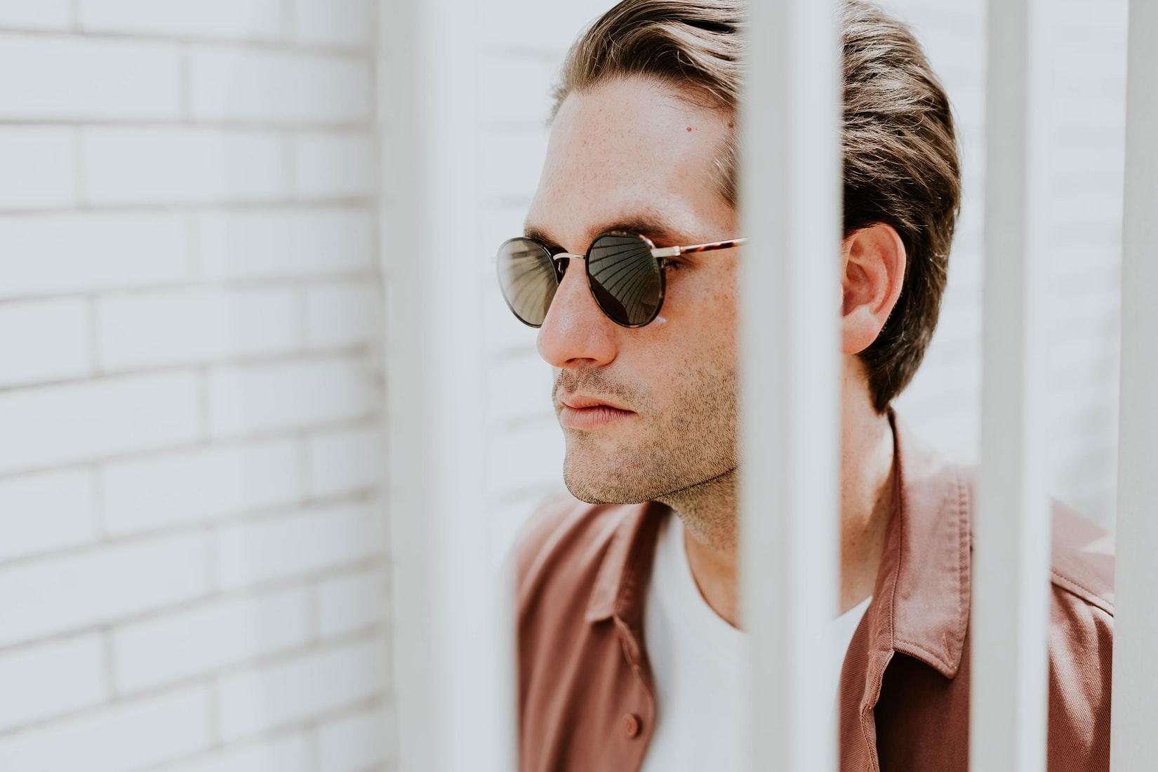 man-zonnebril