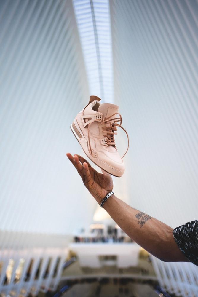 zalm-roze-sneaker