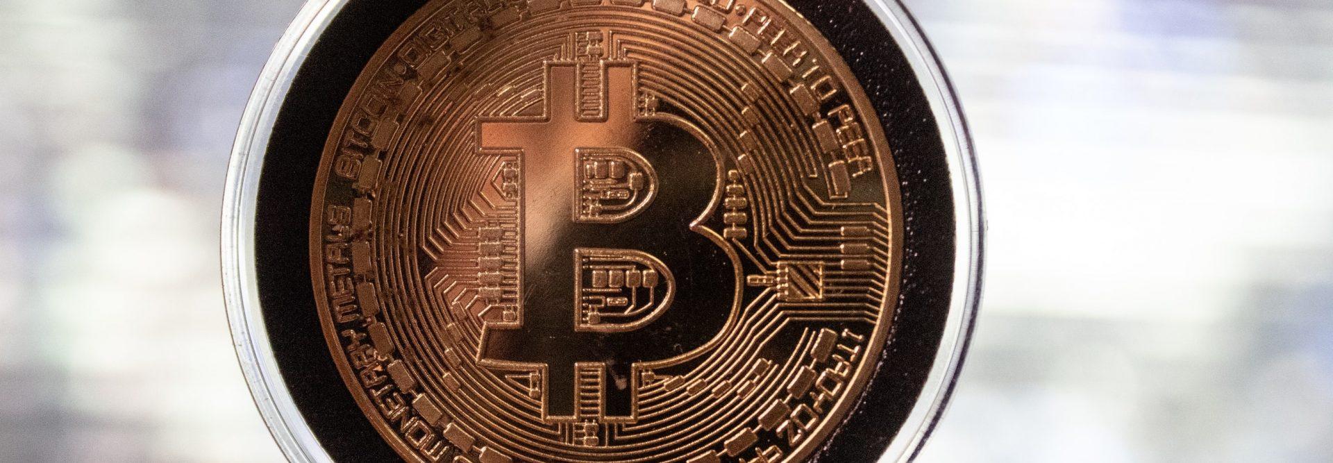 bitcoin-munt-plastic-omhulzing