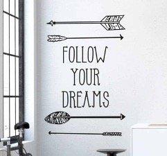 follow-your-dreams-muursticker