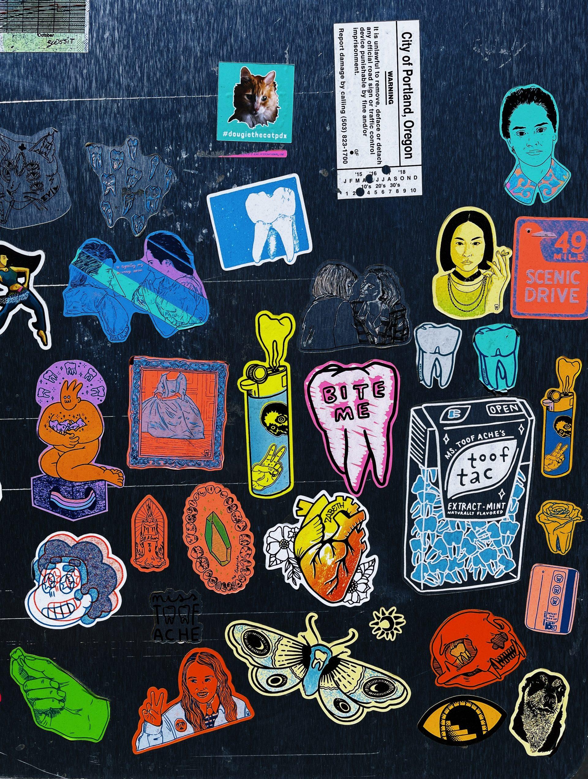 stickers-muur